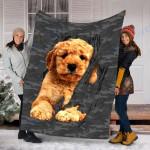 Customs Blanket Poodl Inside Me Dog Blanket - Fleece Blanket