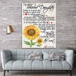 To My Daughter Sunflower Canvas Print Wall Art - Gift For Daughter - Matte Canvas #17103
