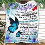 Custom Blanket Personalized Name Mom To My Daughter Blanket - Gift For Daughter - Fleece Blanket