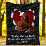 Custom Blankets Irish Setter Dog Blanket - Fleece Blanket