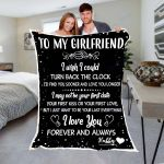 Custom Blankets To My Girlfriend Personalized Blanket - Valentines Day Gifts For Her - Fleece Blanket