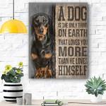 Black Dachshund Dog Canvas Prints Wall Art 1 - Matte Canvas