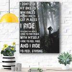 I Dont Ride My Bike Canvas Prints Wall Art - Matte Canvas