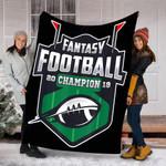 Customs Blanket Fantasy Football 2019 Champion Blanket - Fleece Blanket