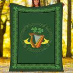 St. Patrick's Day Custom Blanket IRISH CELTIC CLADDAGH Blanket - Fleece Blanket