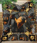 Custom Blanket Dachshund Black 3D Quilt Blanket - Quilt Blanket