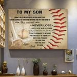 Baseball Canvas Prints Wall Art - Perfect Gift For Son - Matte Canvas #26223