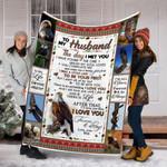 Custom Blankets To My Husband Blanket - Fleece Blanket