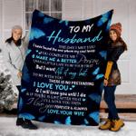 Customs Blanket TO MY HUSBAND Blanket - Perfect Gift For Husband - Fleece Blanket #98152