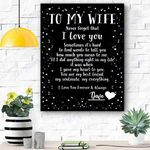 Custom Canvas To My Wife Personalized Canvas Print Wall Art - Matte Canvas