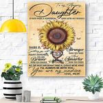 To My Daughter Sunflower Canvas Print Wall Art - Gift For Daughter - Matte Canvas #50500