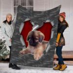 Customs Blanket Pekingese Dog Blanket - Fleece Blanket #27349