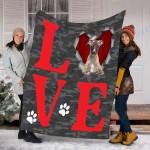 Customs Blanket Whippet Dog Blanket - Valentines Day Gifts - Fleece Blanket