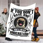 Customs Blanket Pug Dog Blanket - Fleece Blanket #40078