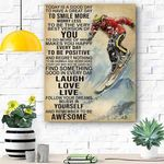 Custom Canvas Skiing Today Is Good Day Canvas Print Wall Art - Matte Canvas