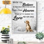 Beagle Dog Canvas Prints Wall Art - When You Believe - Matte Canvas