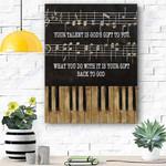 Piano - Your Talent Dog Canvas Prints Wall Art - Matte Canvas - Matte Canvas