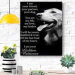 Custom Canvas Golden Retriever Dog Canvas Print Wall Art - Matte Canvas
