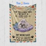 Custom Blanket Personalized Name Letter I'm Telling You I'm Not A Shih Tzu Blanket