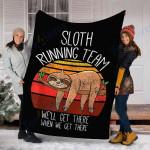 Customs Blanket Sloth Blanket - Perfect Gifts For Men Women Kids- Fleece Blanket