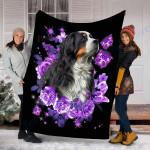 Customs Blanket  Bernese Mountain Dog Blanket - Valentines Day Gifts - Fleece Blanket