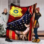 Custom Blanket POLICE OFFICER Blanket - Fleece Blanket
