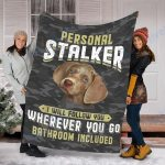 Custom Blanket Weimaraner Dog Blanket - Fleece Blanket