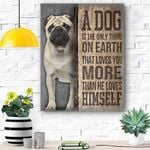 Pug Dog Canvas Prints Wall Art - Matte Canvas #88280