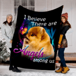 Customs Blanket Pomeranian Angels Among Us Classic Dog Blanket - Fleece Blanket