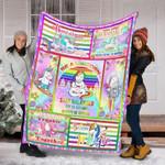 Unicorns Custom Blanket - Perfect Gift For Girl - Fleece Blanket