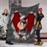 Customs Blanket Schnauzer Dog Blanket - Fleece Blanket #10421