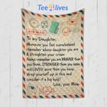 Custom Quilt Blanket Letter To My Daughter Blanket - Gift For My Daughter - Quilt Blanket #81371
