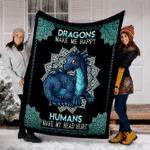 Customs Blanket Dragon Make My Happy Blanket - Fleece Blanket
