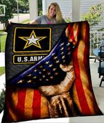 Custom Blanket U.S. Army FLAG Blanket - Perfect Gift For Dad - Quilt Blanket