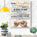 To My Daughter Canvas Print Wall Art - Gift For Daughter - Matte Canvas #61884
