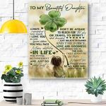 To My Daughter Canvas Print Wall Art - Gift For Daughter - Matte Canvas #61358