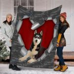 Customs Blanket Husky Dog Blanket - Fleece Blanket