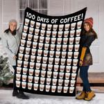 Customs Blanket 100 Coffee Cups 100th Day School Blanket - Fleece Blanket