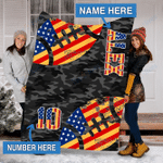Custom Blankets Football Fan Personalized Blanket - Fleece Blanket