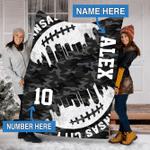 Custom Blankets Kansas City Football Personalized Blanket - Fleece Blanket