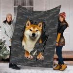 Customs Blanket Shiba In Inside Me Dog Blanket - Fleece Blanket