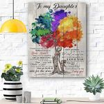To My Daughter Canvas Prints Wall Art - Matte Canvas #26712