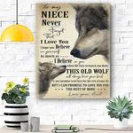 Wolf Canvas Prints Wall Art - Perfect Gift For Niece - Matte Canvas