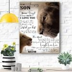 Lion Canvas Prints Wall Art - Perfect Gift For Son - Matte Canvas