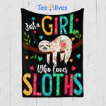 Custom Quilt Blanket Sloth Blanket - Gift For Girl