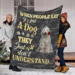 Customs Blanket Komondor Dog Blanket - Valentines Day Gifts - Fleece Blanket