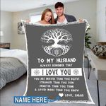 Custom Blankets To My Husband Personalized Blanket - Perfect Gift For Husband - Fleece Blanket #59301
