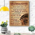 To My Granddaughter Horse Canvas Print Wall Art - Matte Canvas #82198