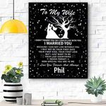Custom Canvas To My Wife Personalized Name Canvas Print Wall Art - Matte Canvas