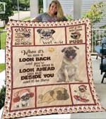 Custom Blankets Pug Dogs Blanket - Yorkshire Beside You Gift - Fleece Blanket